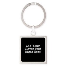 Add Text Background Black Keychains