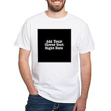 Add Text Background Black T-Shirt