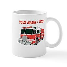 Custom Red Fire Truck Mugs