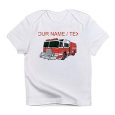 Custom Red Fire Truck Infant T-Shirt