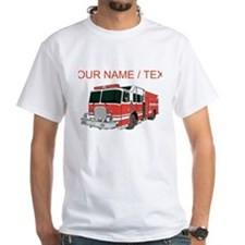 Custom Red Fire Truck T-Shirt