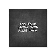 Add Text Background Chalkboard Sticker