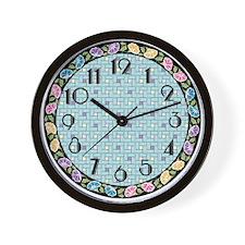 Vintage Bouquet 9-In Wall Clock
