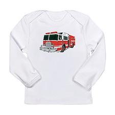 Red Fire Truck Long Sleeve T-Shirt