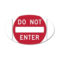 Do Not Enter Wall Decal