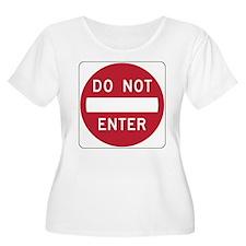Do Not Enter Plus Size T-Shirt