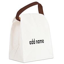 Add Text Font Modern Canvas Lunch Bag