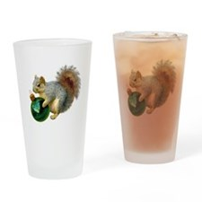Squirrel Ornament Drinking Glass