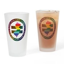 New Jersey live let marry Drinking Glass