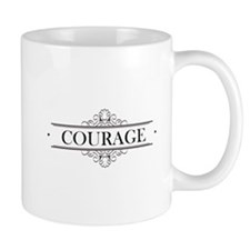 Courage Calligraphy Mug