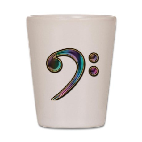 Colorful Bass Clef Shot Glass