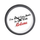 In Love with Arlene Wall Clock