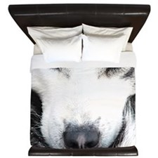 Blue Eyed Husky King Duvet