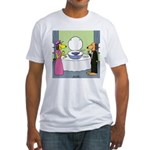 Toilet Bowl Punch Bowl Fitted T-Shirt