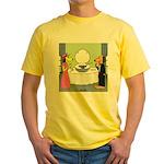 Toilet Bowl Punch Bowl Yellow T-Shirt