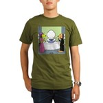 Toilet Bowl Punch Bowl Organic Men's T-Shirt (dark