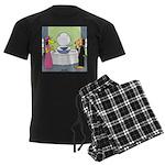 Toilet Bowl Punch Bowl Men's Dark Pajamas