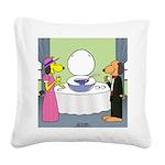 Toilet Bowl Punch Bowl Square Canvas Pillow