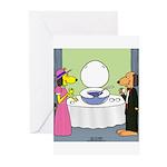 Toilet Bowl Punch Bowl Greeting Cards (Pk of 20)