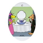 Toilet Bowl Punch Bowl Ornament (Oval)