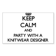 Keep Calm and Party With a Knitwear Designer Stick