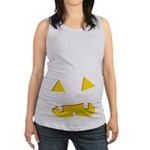Toothy Jack o Lantern Maternity Tank Top