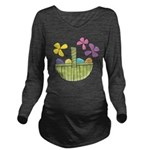 Easter Basket Long Sleeve Maternity T-Shirt