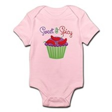 Sweet Spicy Jalapeño Cupcake Infant Bodysuit