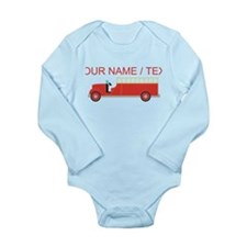 Custom Red Firetruck Body Suit