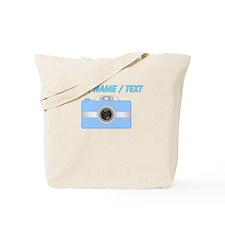 Custom Blue Camera Tote Bag