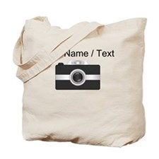 Custom Black Camera Tote Bag