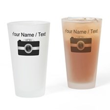 Custom Black Camera Drinking Glass