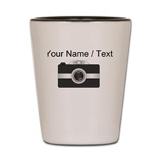 Custom Black Camera Shot Glass