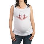 Rock Mom Skull Maternity Tank Top