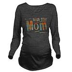 Plaid Rock Star Mom Long Sleeve Maternity T-Shirt