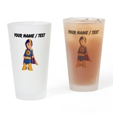 Custom Super Hero Drinking Glass