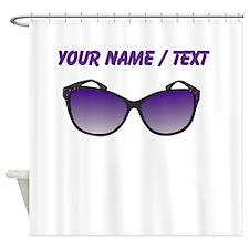 Custom Sunglasses Shower Curtain