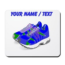 Custom Blue Running Shoes Mousepad