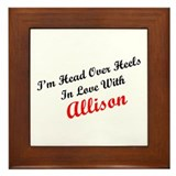 In Love with Allison Framed Tile