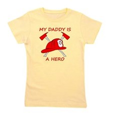 My Daddy Is A Hero Girl's Tee