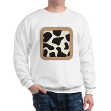Cow Skin Cow Pattern Sweatshirt