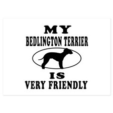 My Bedlington Terrier Is Very Friendly Invitations