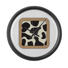Cow Skin Cow Pattern Large Wall Clock