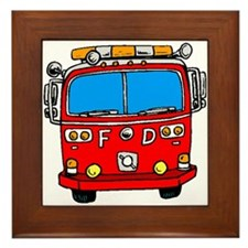 Fire Engine Framed Tile