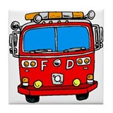 Fire Engine Tile Coaster