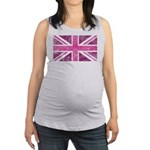 Pink Union Jack Maternity Tank Top