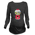 Bubble Gum Long Sleeve Maternity T-Shirt