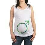 Green Male Symbol Maternity Tank Top