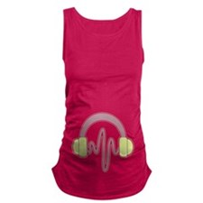 Green Purple Headphones Maternity Tank Top