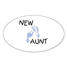 New Aunt (blue) Oval Decal